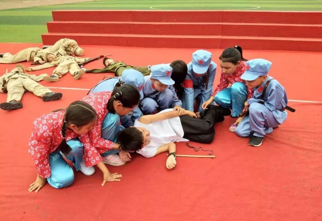 传承传统文化 传颂国粹经典 传扬红色精神 ——包头钢四小举行端午节展演活动
